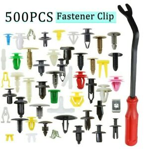 500pcs Auto Car Mixed Fastener Clip Bumper Fender Trim Plastic Rivet Door Panel