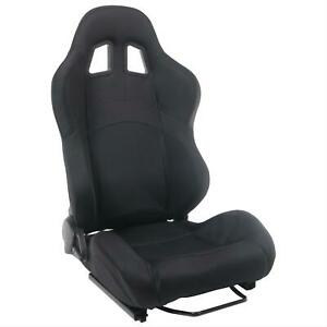 Summit Racing G1130r Sport Seat Recliner Black Fabric Cover Passenger Side Each