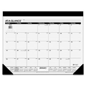 At A Glance Aagsk2200 22 X 17 In Monthly Desk Pad Calendar 12month