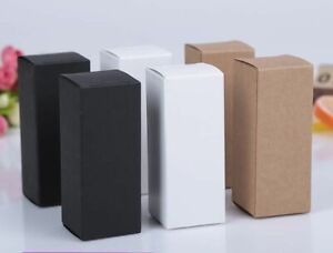 White Black Kraft Paper Packaging Box Dropper Bottle Cosmetics Party Gift Boxes