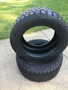 Two 2 Used Toyo Open Country R t 33x12 50r20 Radial Tire