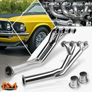 For 64 70 Ford Mustang 260 289 302 Tri Y Long Tube S Steel 8 4 2 Exhaust Header