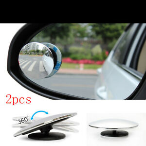 2 Pcs Blind Spot Mirror Round Hd Convex Rear View Mirror
