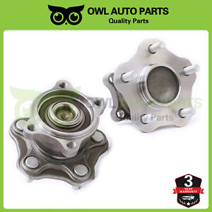 Rear Wheel Hub Bearing Assembly Set Pair For Nissan Altima Quest W abs 512201