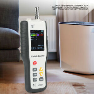 Ht9600 Pm2 5 Pm10 Air Quality Analyzer Hygrometer Handheld Particle Counter