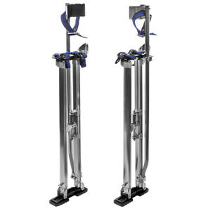 36 48 Adjustable Aluminum Drywall Stilts Painting Painter Taping Silver