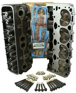 Chevy 350 57 Vortec Cylinder Heads Pair 906 062 Suburban With Head Set Amp Bolts