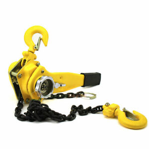 3 4 Ton Lever Block Chain Hoist Ratchet Type Come Along Puller 10ft Chain Lifter