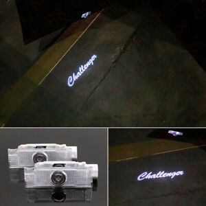 2x Dodge Challenger Led Projector Car Door Lights Shadow Puddle Courtesy Laser