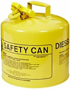 Eagle Ui 50 sy Type I Metal Safety Can Diesel 12 1 2 W X 13 1 2 D 5 Gallon