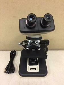 Nikon Alphaphot 2 Ys2 h Microscope With 4 Objectives Working Free Shipping