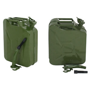 2pcs Jerry Can 5 Gallon Military Style 20l Gas Gasoline Fuel Storage Steel Tank