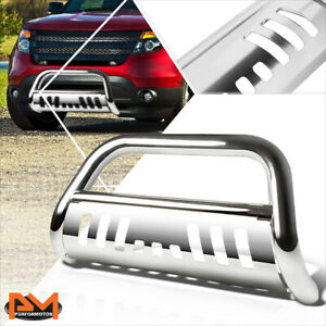 For 11 16 Ford Explorer 3 Tubing Bull Bar Front Push Bumper Grille Guard Chrome