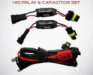 Opt7 Hid Anti flicker Power Relay And 2 Ecm Capacitors Cancellers For Hid Kits