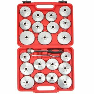 23pcs Cup Type Aluminium Oil Filter Wrench Removal Socket Remover Tool Kit Set