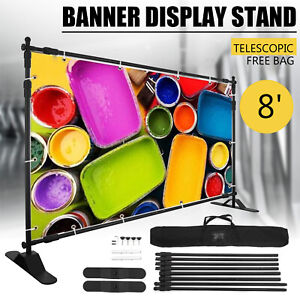 Step And Repeat 8x8 Banner Stand Adjustable Telescopic Trade Show Display