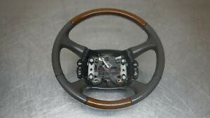 Chevrolet Gmc Tahoe Suburban Yukon Steering Wheel 98 02 Wood Leather W Buttons