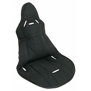 Summit Racing Seat Cover Highback Bucket Style Fabric Black 20 0 In Width Each