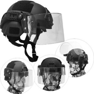 Mich 2000 Airsoft SWAT Helmet Combat Helmet with Goggle Clear Lens Protector