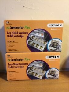 New Sealed 2 Xyron Ez Laminator Plus Two sided Refill Cartrdiges 22 Ft 9 In Ea