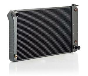 Be Cool Radiator Direct Fit Aluminum Black Gm A body Each 17008