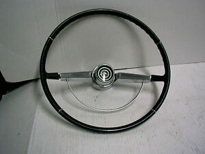 1965 1966 Chevrolet Impala Steering Wheel With Chrome Horn Ring