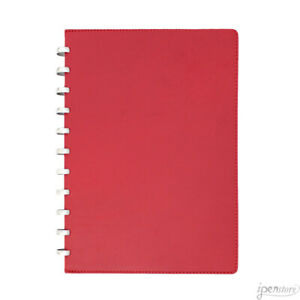 Atoma Pur Disc bound Notebook Red Leather A4 210x297 Mm 8 3 X 11 7 Ruled