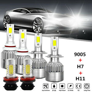 For Mazda 3 2004 2005 2006 6x 9005 H7 Headlight H11 Fog Light Led Combo Bulbs