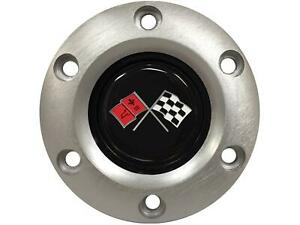 Horn Button S6 Series Corvette Crossed Flags Plastic Brushed Each