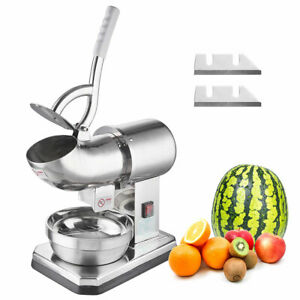 250w Electric Ice Shaver Crusher Snow Cone Machine Maker Shaved Ice 440 Lbs