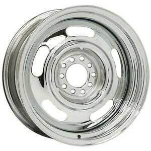 Wheel Chevy Rallye Steel Chrome 17 X7 5x4 5 4 75 Bc 4 5 Backspace Each