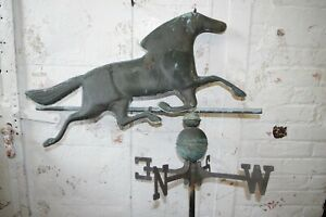 Vintage Antique Running Horse Weather Vane Copper Nsew Cupola Weathervane