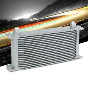 19 Row 10an Silver Aluminum Oil Cooler For Turbo engine transmission differntral