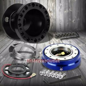 Black Steering Wheel Hub Adapter blue Quick Release For 92 95 Integra Dc2 civic