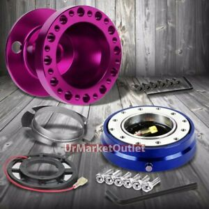 Purple Steering Wheel Hub Adapter blue Quick Release For 92 95 Integra Dc2 civic