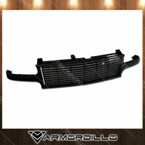 Fit 1999 2002 Chevrolet Silverado 1500 Horizontal Grille Replacement Gloss Black