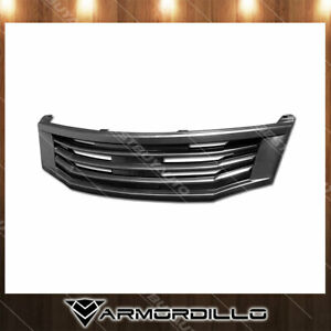 Fits 2008 2010 Honda Accord Horizontal Grille Replacement Gloss Black