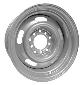 U S Wheel 55 Series Silver Rallye Wheel 15 X8 5x5 Bc Set Of 2