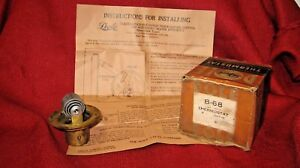 Vintage Dole Butterfly Thermostat B 68 Motor Block Type With Instructions Nos