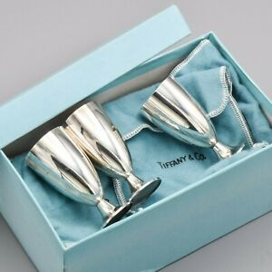 Tiffany Co Sterling Silver Cordial Cups Set Of 3 107 2 Grams