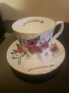Vintage Royal Patrician Tea Cup Saucer October Flowers Bone China England