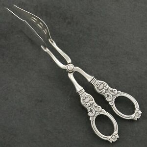 Th Marthinsen Valdres Norwegian Sterling Silver Norway Pastry Sandwich Tongs