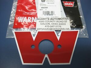 Warn 98392 21717 Decal Winch Solenoid Cover Guard Housing Remote Control Box W