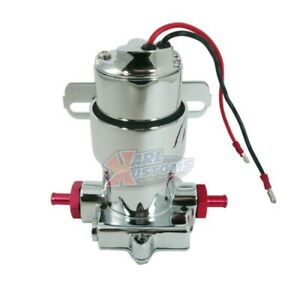 100 Gph Holley Red Style Universal Electric Fuel Pump Red Fittings 7 Psi