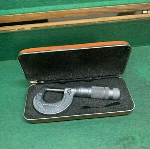 Brown Sharpe 1 0 1 Micrometer With Case For Machinist Tool Die Maker