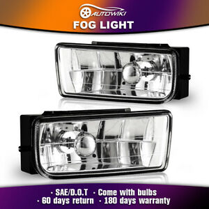 For 1992 1999 Bmw 3 Series E36 M3 Driving Fog Lights Clear Glass Lens Pair Lamps