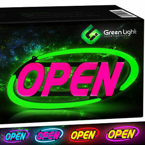 Led Open Sign For Business Stand Out With 64 Super bright Color Combos To Matc
