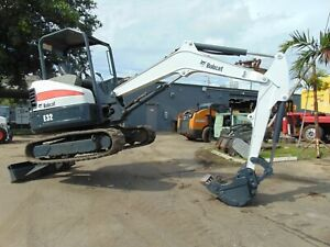 2011 Bobcat E 32m Mini Excavator Variable Throttle 2 Speed Back Fill Blade