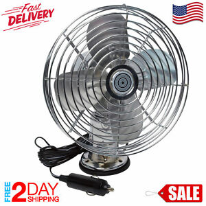 Heavy Duty Metal Speed Fan 12 V Auto Car Truck Vehicle Outdoor Screw Mount 2