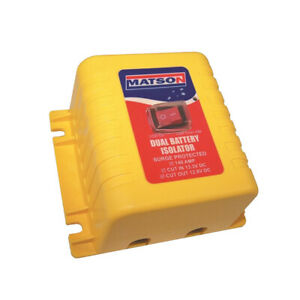 Matson Battery Isolator vsr 140 Amp 12 Volt With Override Switch Simple Instal